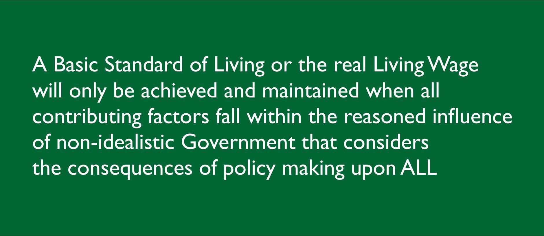 Basic Standard of Living Q